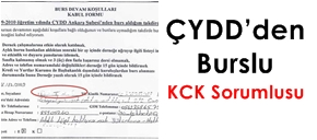 ÇYDD'den burslu, KCK sorumlusu