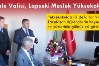 Çanakkale Valisi Güngör Azim Tuna, Lapseki Meslek Yüksekokulu' nu Ziyaret Etti