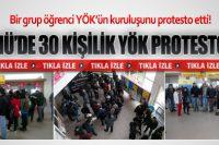 ÇOMÜ'de 30 Kişilik YÖK Protestosu
