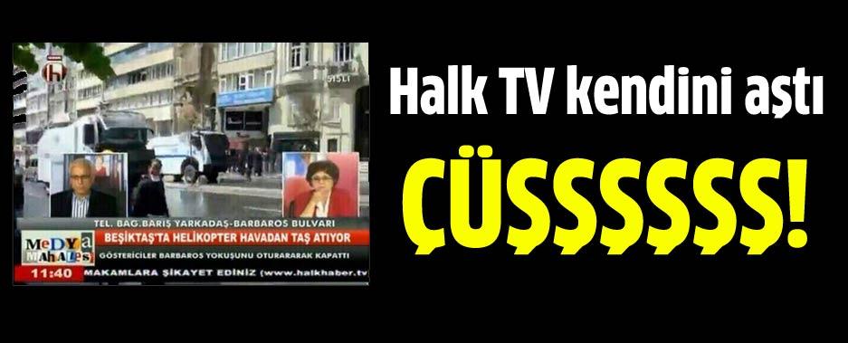 Halk TV'de garip 1 Mayıs KJ'si: Polis helikopterden taş attı