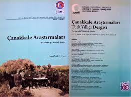 Çanakkale Araştırmaları Dergisi'nin 16. Sayısı Çıktı