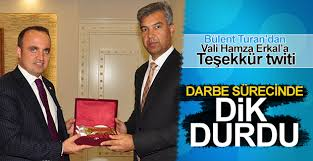 AK Parti Grup başkanvekili Bülent Turan'dan Vali Hamza Erkal'a teşekkür