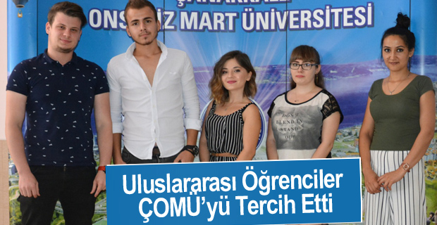 Uluslararası Öğrenciler ÇOMÜ'yü Tercih Etti