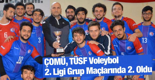 ÇOMÜ, TÜSF Voleybol 2. Ligi Grup Maçlarında 2. Oldu