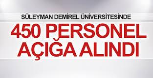 Süleyman Demirel Üniversitesi'nde 450 personel açığa alındı